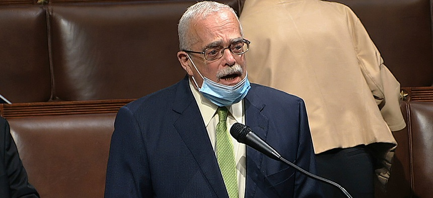 "Rep. Gerry Connolly, D-Va., speaks on the House floor on Thursday.  Connolly said separately that ""accountability has been one of the victims of this pandemic."""