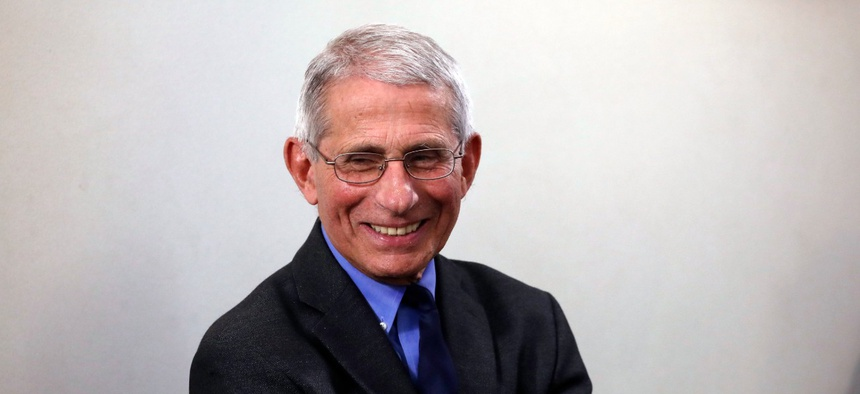 Dr. Anthony Fauci, director of the National Institute of Allergy and Infectious Diseases, is one of 27 finalists for a prestigious awards program that recognizes extraordinary contributions of career civil servants.