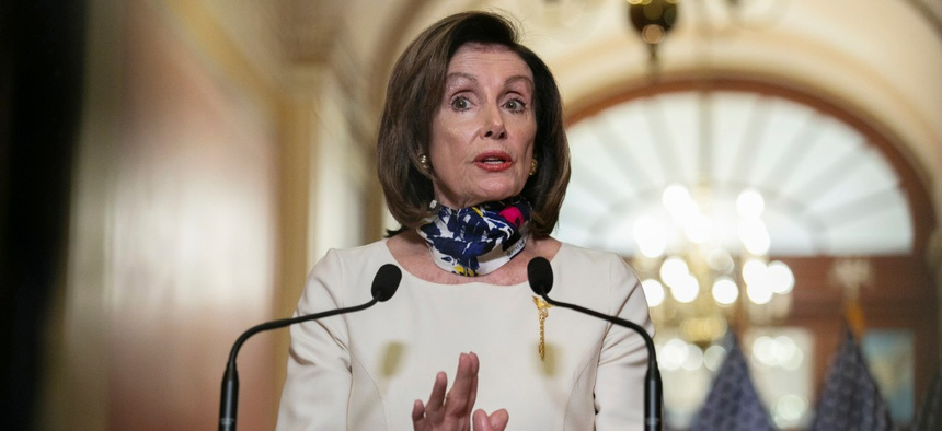 House Speaker Nancy Pelosi unveils a new $3 trillion coronavirus aid package on Tuesday.