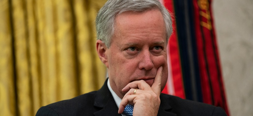 White House Chief of Staff Mark Meadows chairs the White House Transition Coordinating Council.