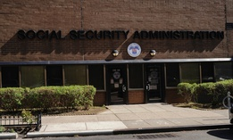 A view of the SSA office in the Queens borough of New York City, on May 12.