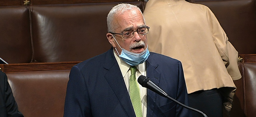 Virginia Democratic Rep. Gerry Connolly on the floor of the House on April 23.