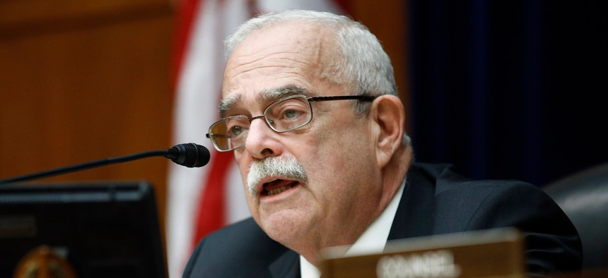 Rep. Gerry Connolly, D-Va.,  chairman of the House Oversight and Reform Subcommittee on Government Operations, speaks during a hearing in February.