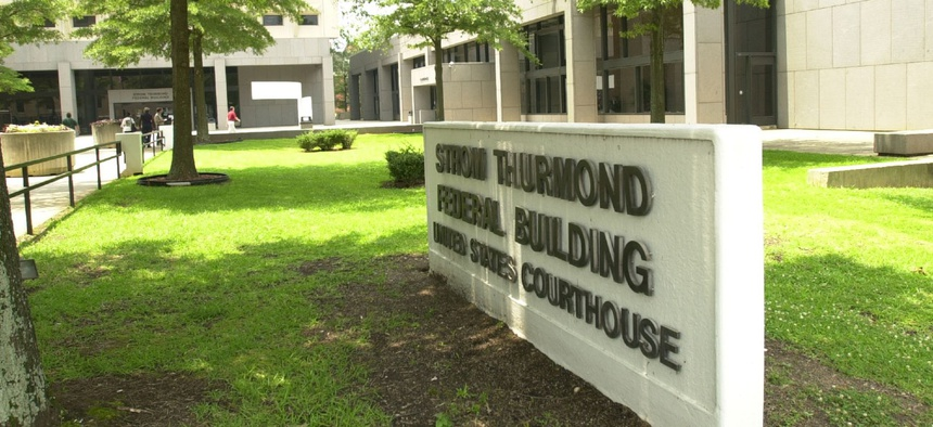 The Strom Thurmond Federal Building and United States Courthouse in Columbia, S.C., is seen on June 27, 2003.