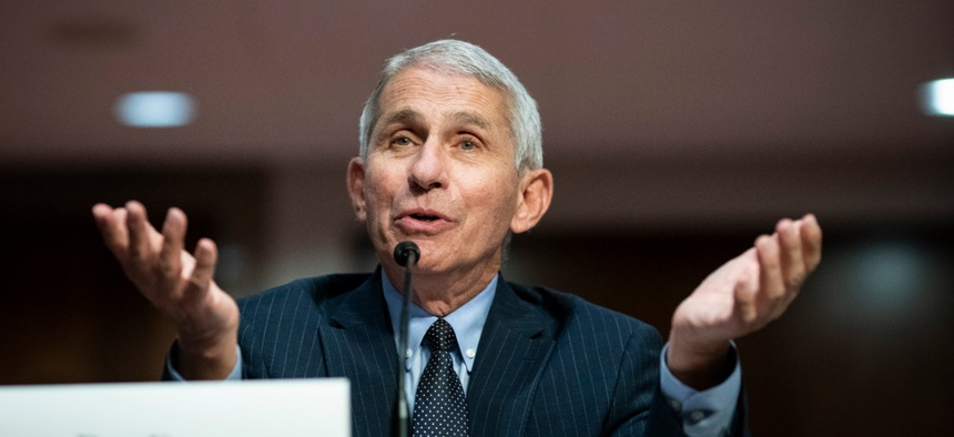 """""""I would not be surprised if we go up to 100,000 a day if this does not turn around,"""" Dr. Anthony Fauci told lawmakers at a Senate hearing Tuesday."""