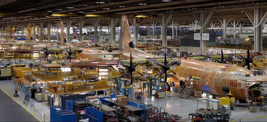 Lockheed Martin's C-130J production line in Marietta, Georgia.