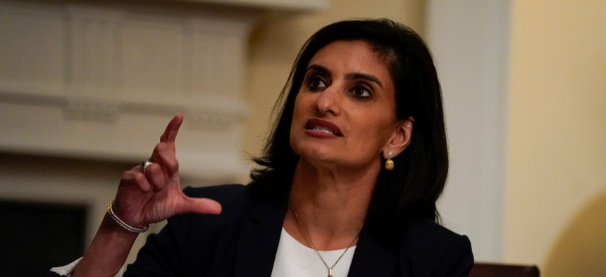 Administrator of the Centers for Medicare and Medicaid Services Seema Verma speaks at the White House on June 15.