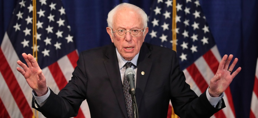 Sen. Bernie Sanders has been leading progressive Democrats' calls to cut defense spending.