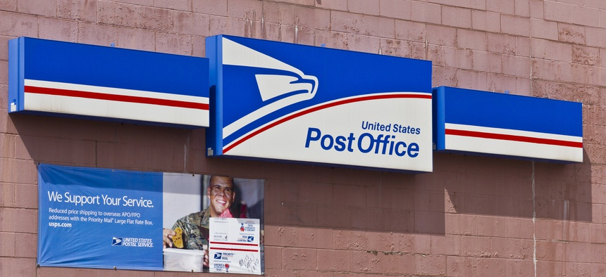 A post office in Indianapolis is shown in 2016.