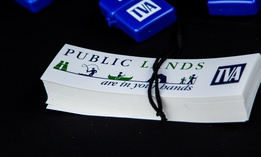 TVA paraphenalia sits on a table during an event celebrating the Mill Creek Loop at Loyston Point opening in 2016.
