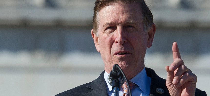 "Rep. Don Beyer, D-Va., said the administration's plan to defer payroll taxes for feds, which they will likely have to repay, is a ""gimmick."""