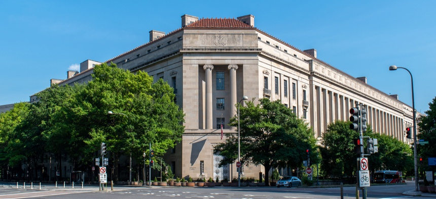 Justice Department headquarters in Washington.