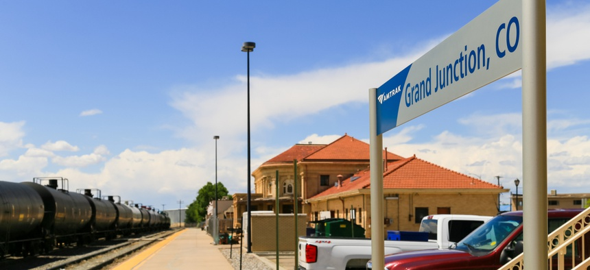 The train station in Grand Junction, Colorado, home of the Bureau of Land Management's new headquarters.