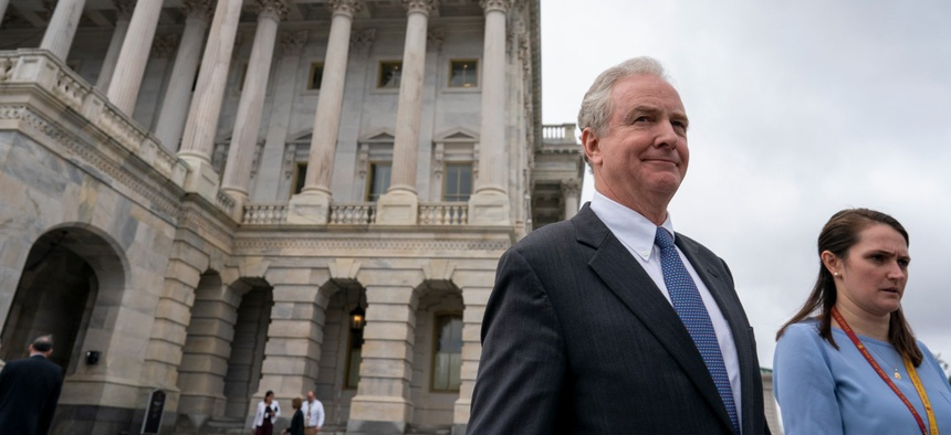 Sen. Chris Van Hollen, D-Md., led a bipartisan effort to allow feds and service members to opt out of a temporary tax deferral scheme, as the private sector has done.