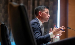 Acting Secretary of Homeland Security Chad Wolf testifies before the Senate Homeland Security and Governmental Affairs committee during his confirmation hearing, Wednesday, Sept. 23.