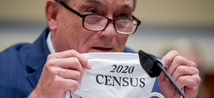 Census Bureau Director Steven Dillingham testifies before a House Oversight and Reform Committee hearing in July.