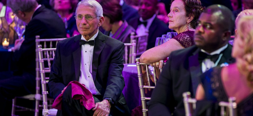 Dr. Anthony Fauci at the 2019 Government Hall of Fame gala at the Washington National Cathedral.