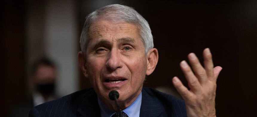 Dr. Anthony Fauci, director of the National Institute of Allergy and Infectious Diseases, won the federal employee of the year award.