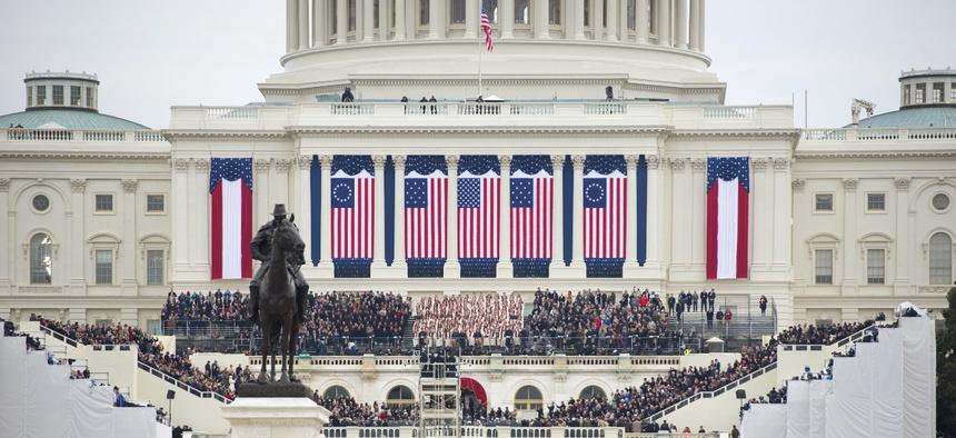 President Trump is inaugurated on Jan. 20, 2017.