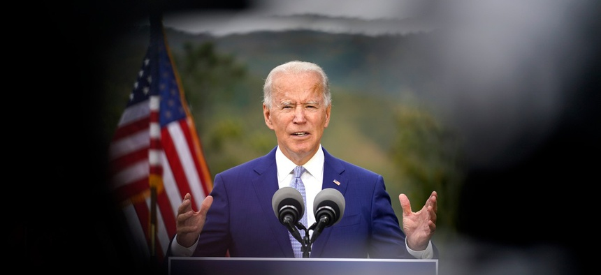 Democratic presidential candidate former Vice President Joe Biden speaks at Mountain Top Inn & Resort, Tuesday, Oct. 27, 2020, in Warm Springs, Ga.