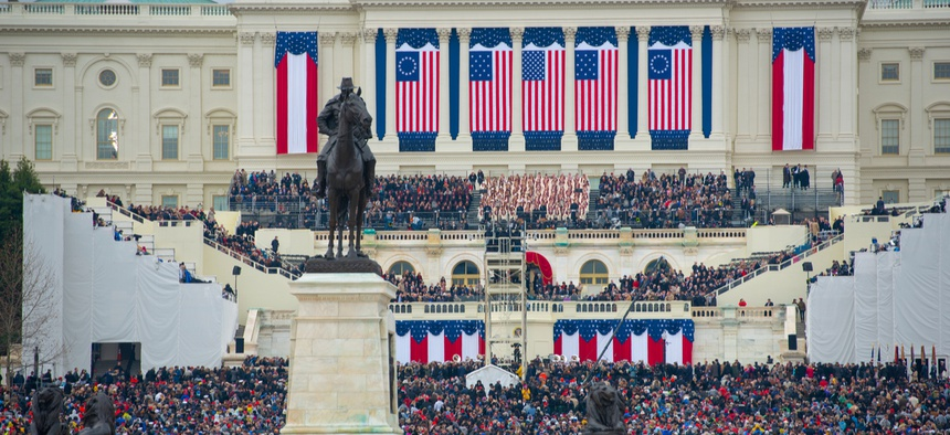 Donald Trump's inauguration is seen in 2017 in Washington.
