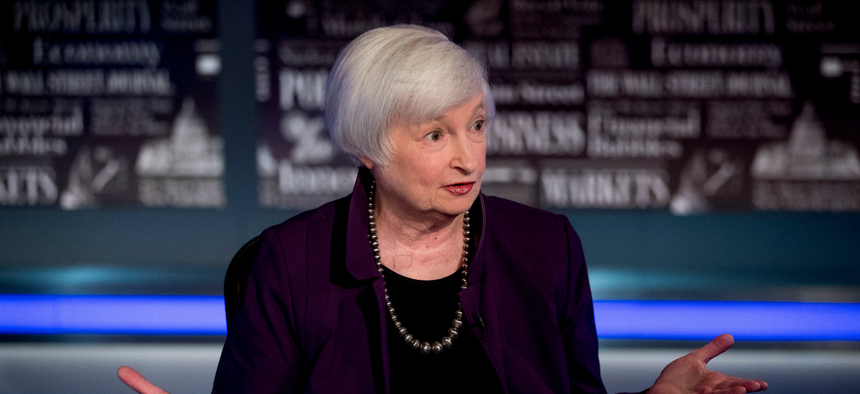Former Fed Chair Janet Yellen speaks with FOX Business Network in 2019.
