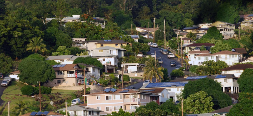 This Thursday, Dec. 24, 2015 photo shows houses in the the Hawaiian homestead community of Papakolea in Honolulu.
