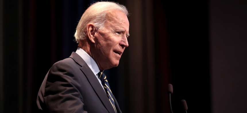 Biden speaks in Nashville in October.