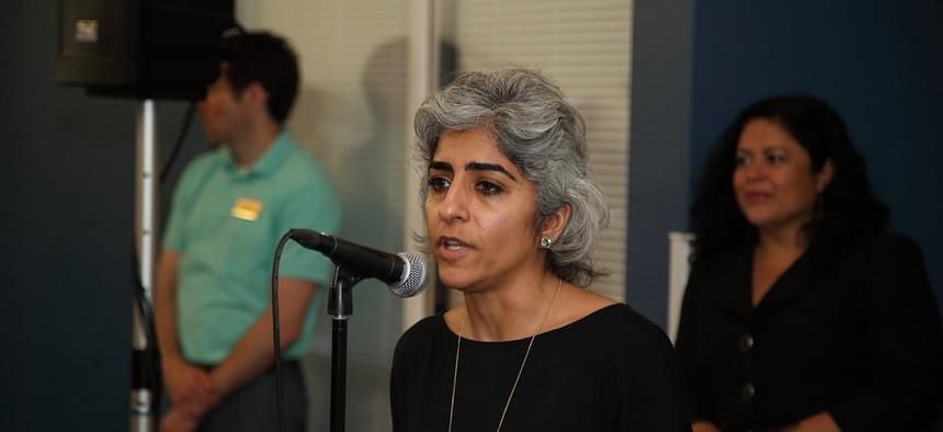 Kiran Ahuja, Executive Director of WHIAAPI, at the White House Summit on May 12, 2015.