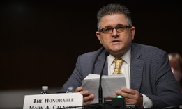 Federal Housing Finance Agency Director Mark Calabria testifies at a Senate hearing in December.