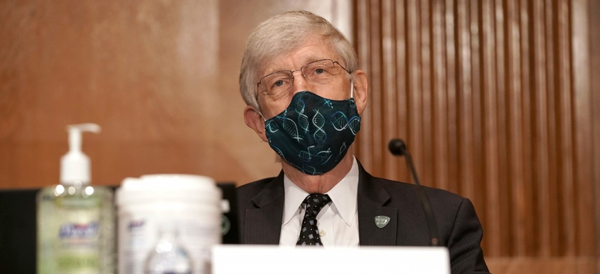 Dr. Francis Collins testifies on Capitol Hill in September.