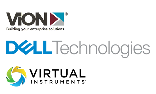 Dell | Vion | Virtual Instruments logo